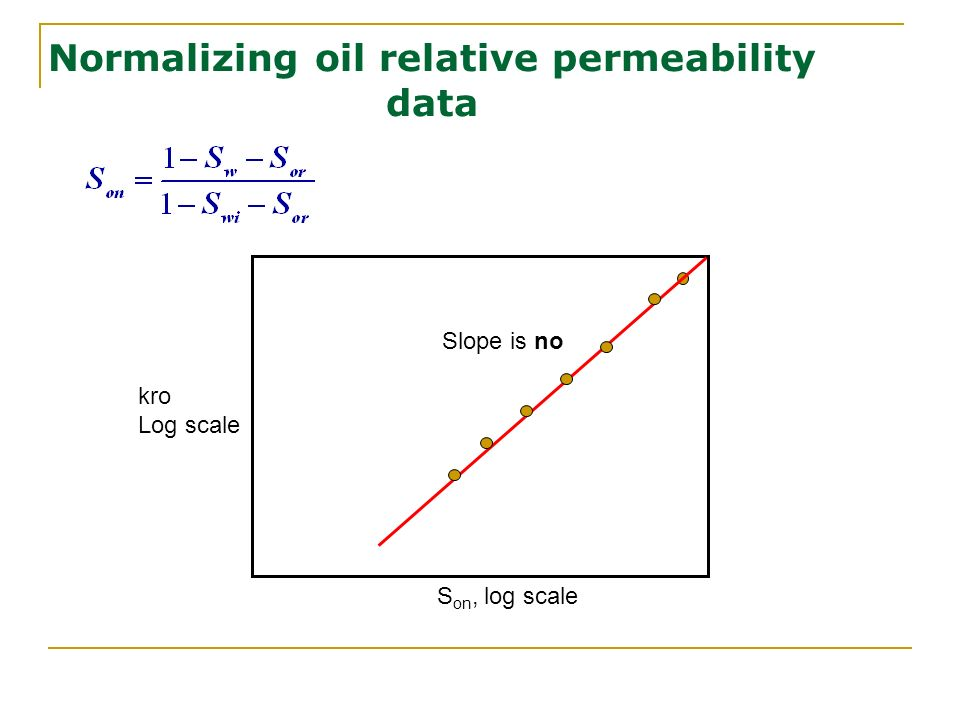 Normalizing oil relative permeability data