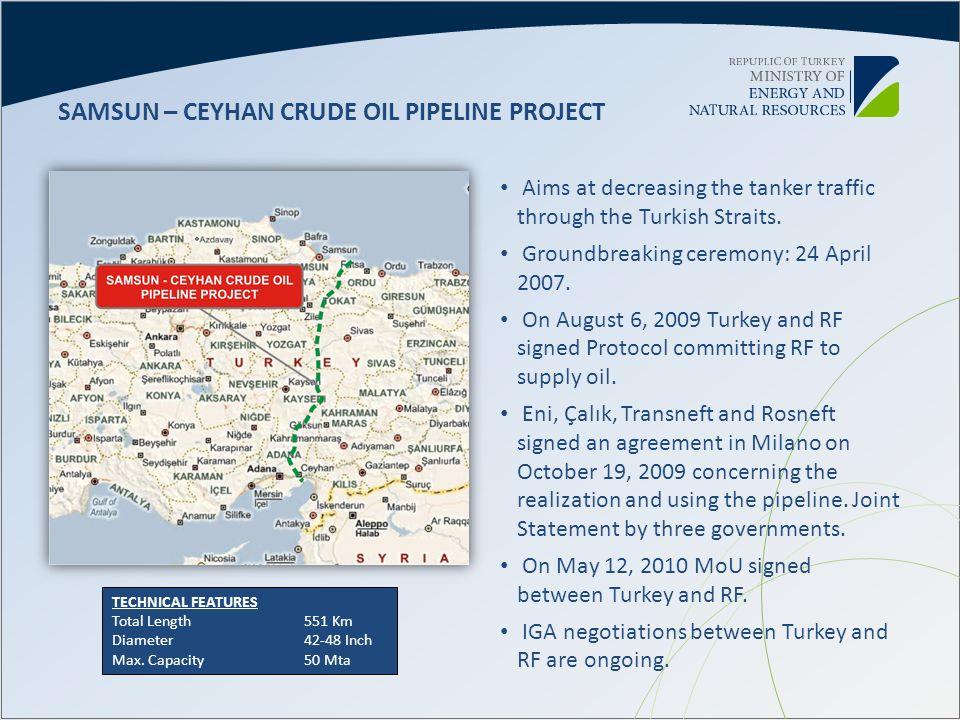 SAMSUN – CEYHAN CRUDE OIL PIPELINE PROJECT