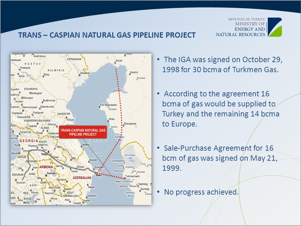 TRANS – CASPIAN NATURAL GAS PIPELINE PROJECT