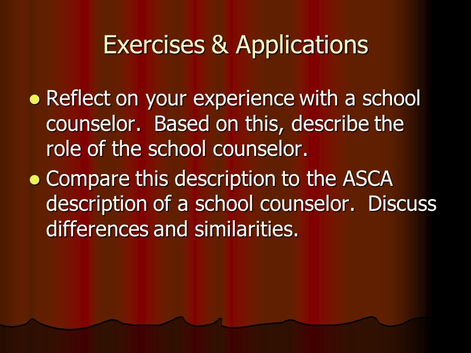 Exercises & Applications