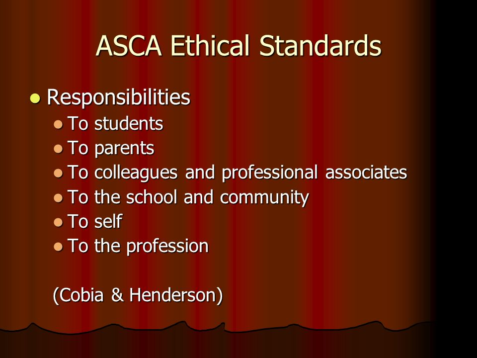 ASCA Ethical Standards