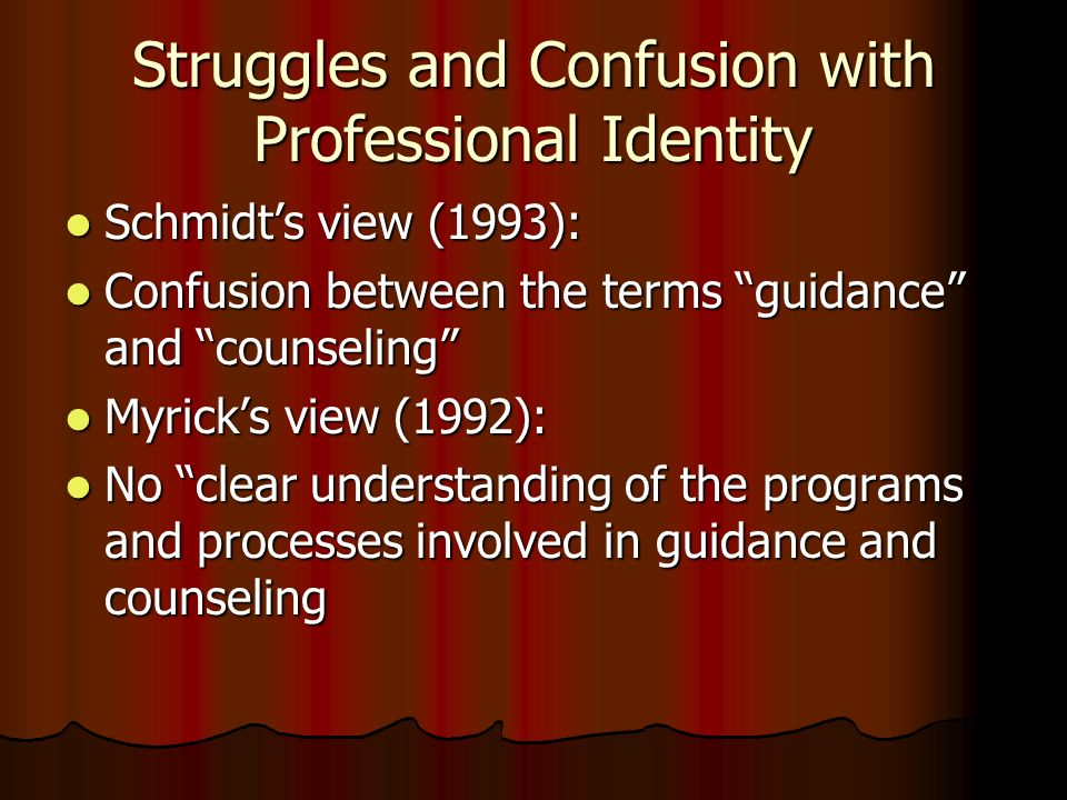 Struggles and Confusion with Professional Identity