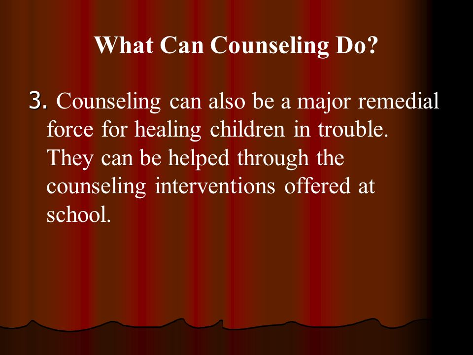 What Can Counseling Do