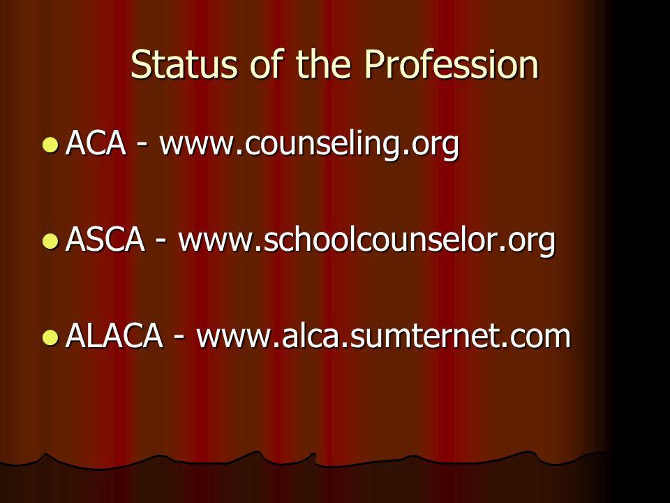 Status of the Profession