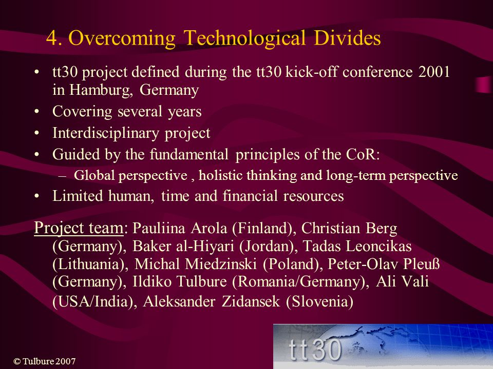 4. Overcoming Technological Divides