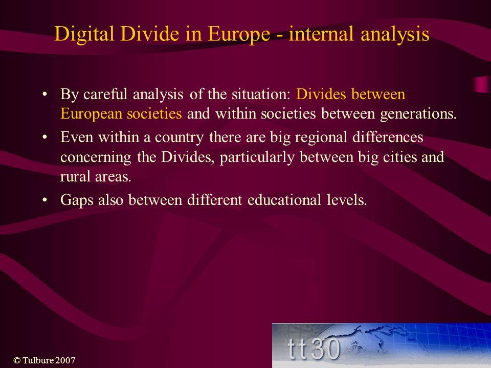 Digital Divide in Europe - internal analysis