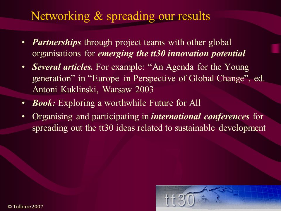 Networking & spreading our results