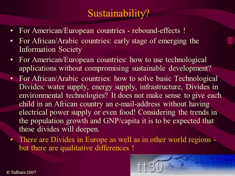 Sustainability For American/European countries - rebound-effects !