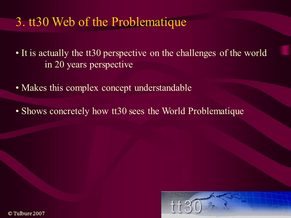 3. tt30 Web of the Problematique