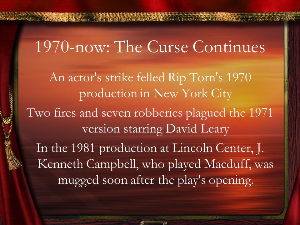 1970-now: The Curse Continues