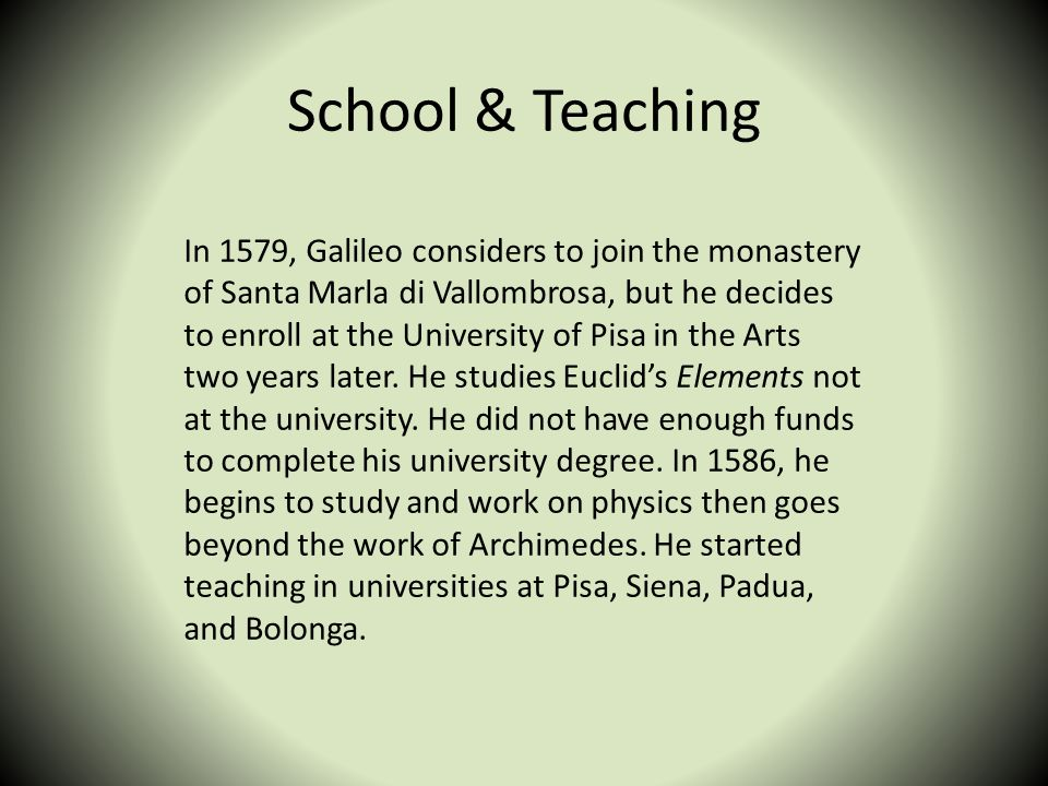 School & Teaching