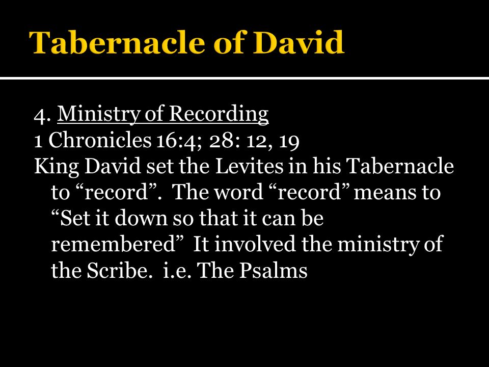 Tabernacle of David