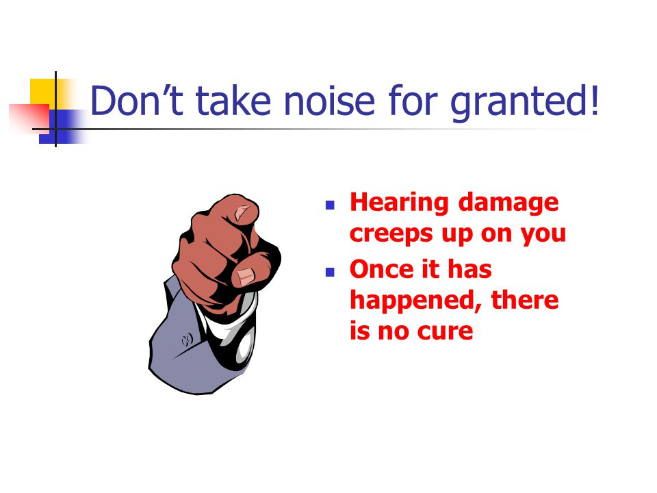 Don't take noise for granted!