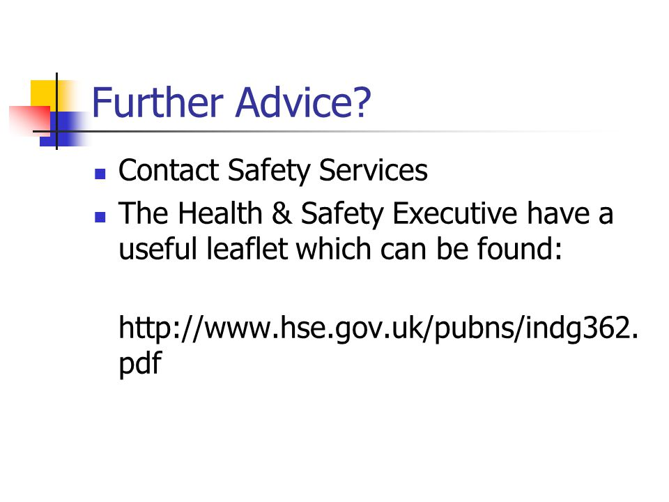 Further Advice Contact Safety Services