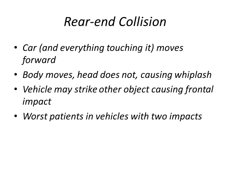 Rear-end Collision Car (and everything touching it) moves forward