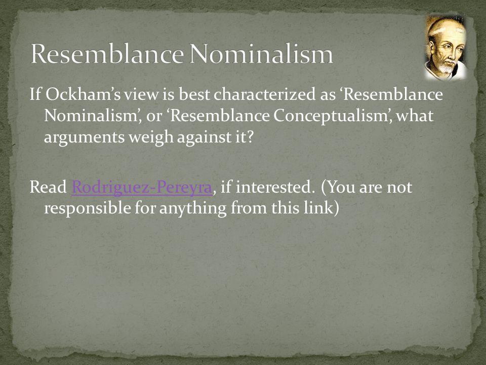 Resemblance Nominalism
