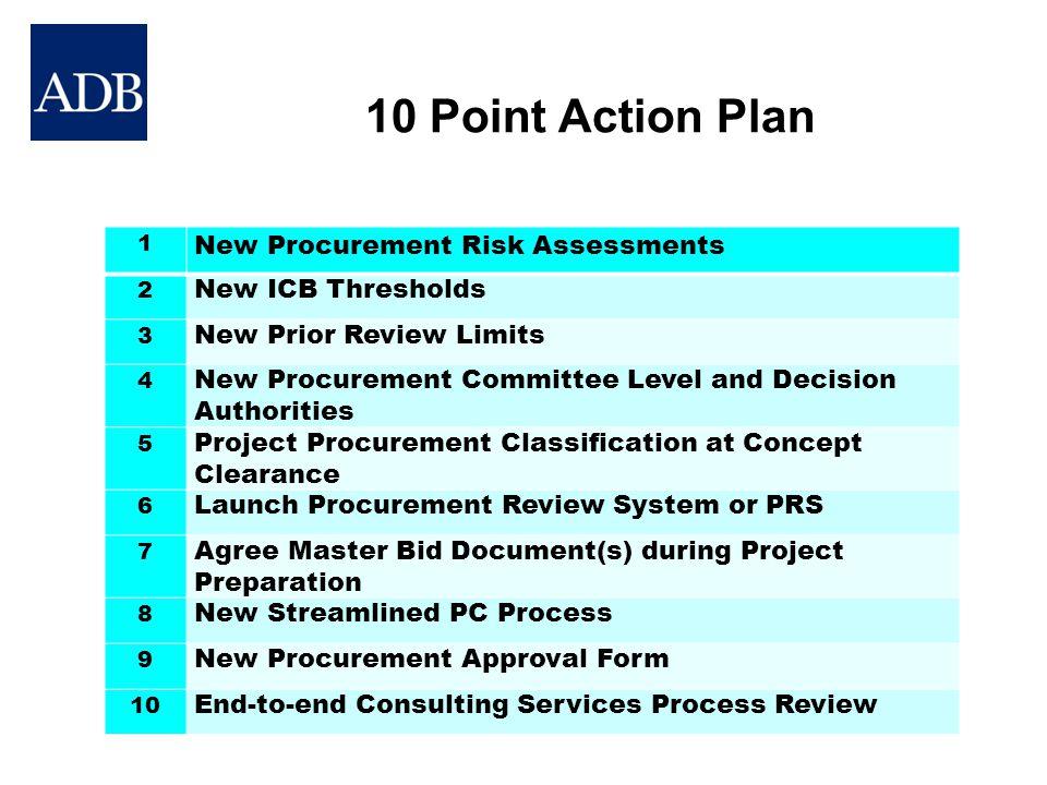 10 Point Action Plan New Procurement Risk Assessments