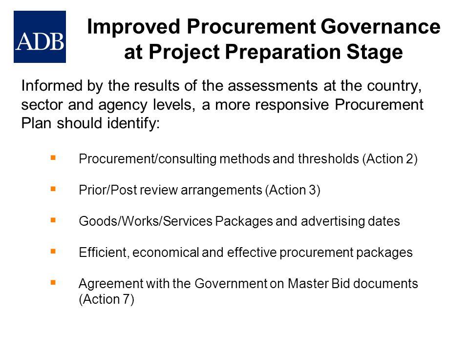 Improved Procurement Governance at Project Preparation Stage
