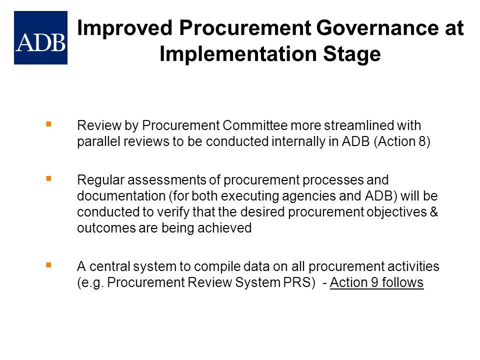 Improved Procurement Governance at Implementation Stage