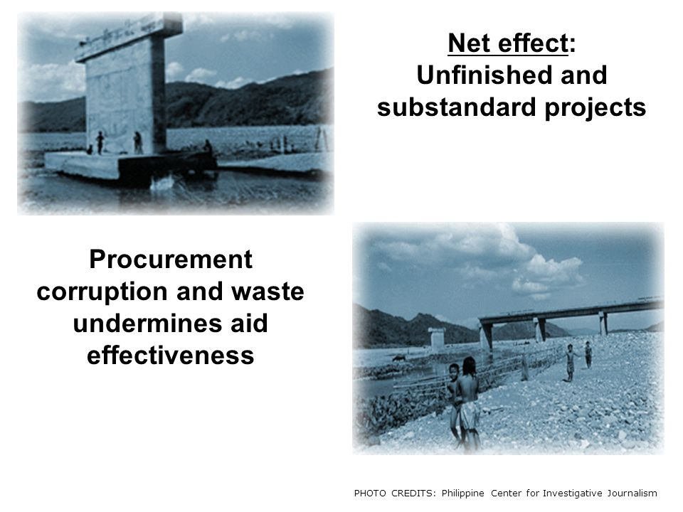 Unfinished and substandard projects