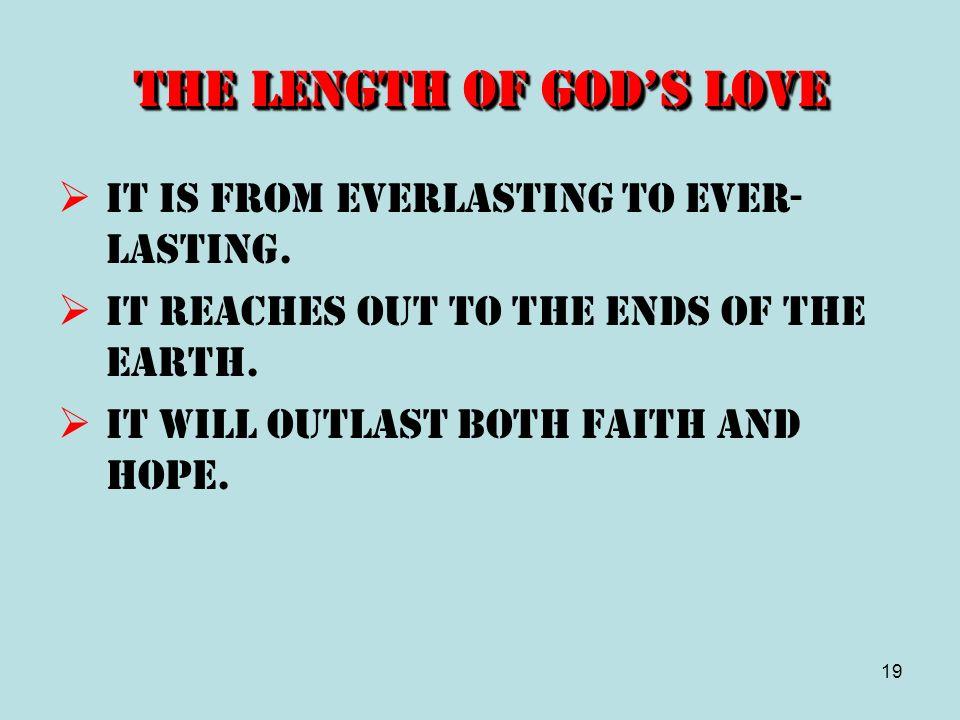 The Length of God's Love