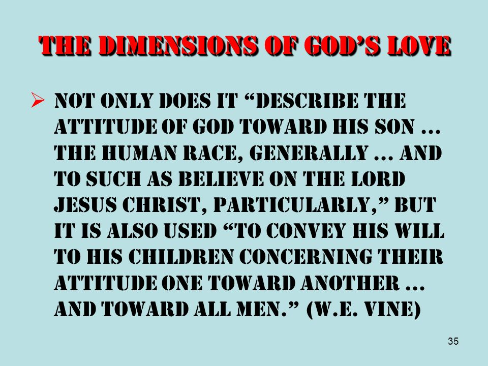 The Dimensions of God's Love