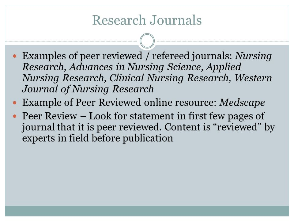 Scholarly/Peer-Reviewed Articles