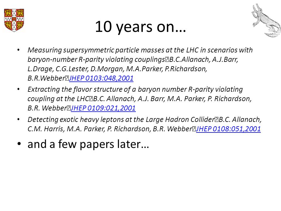 10 years on… and a few papers later…