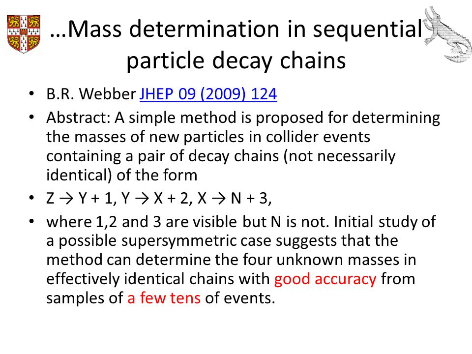 …Mass determination in sequential particle decay chains