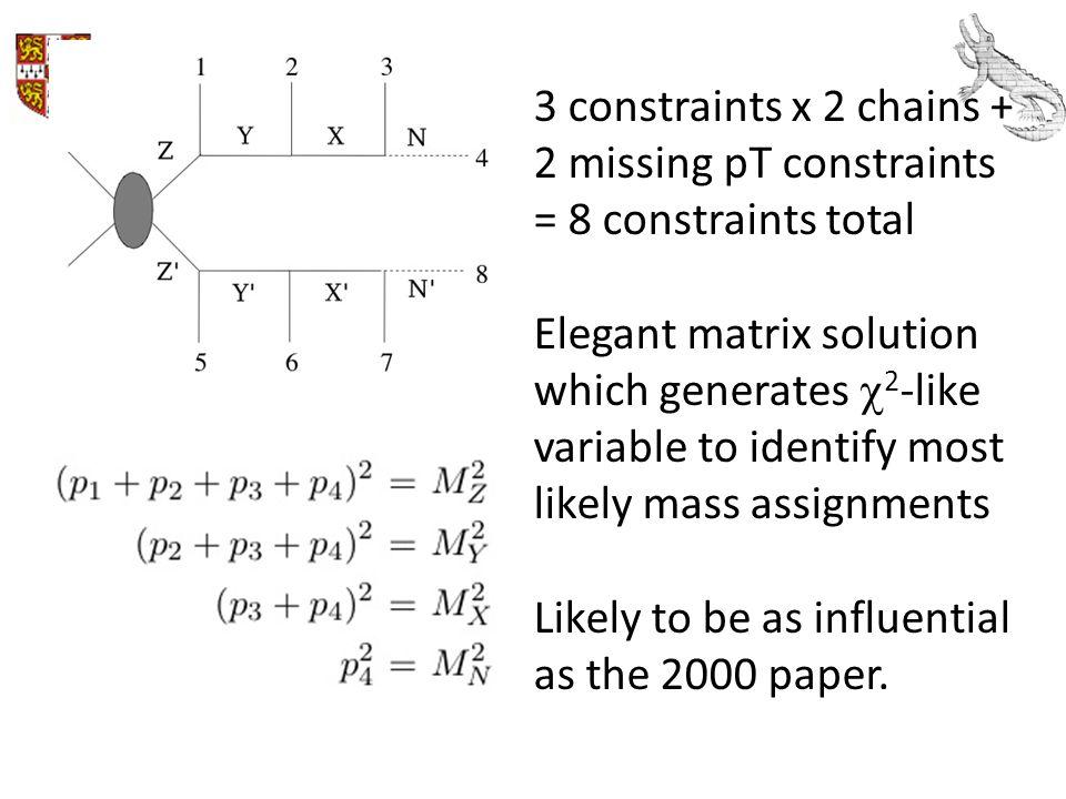 3 constraints x 2 chains + 2 missing pT constraints = 8 constraints total
