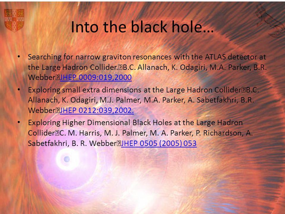 Into the black hole…