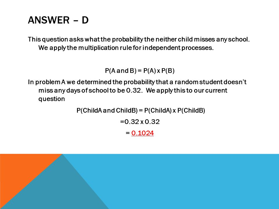 answer – d