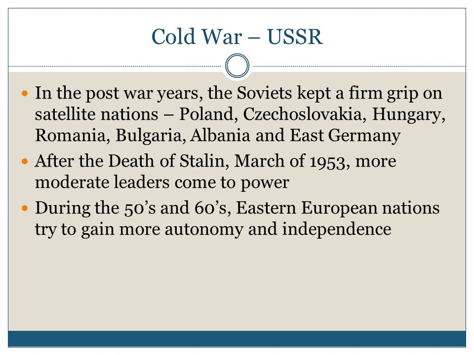 Cold War – USSR