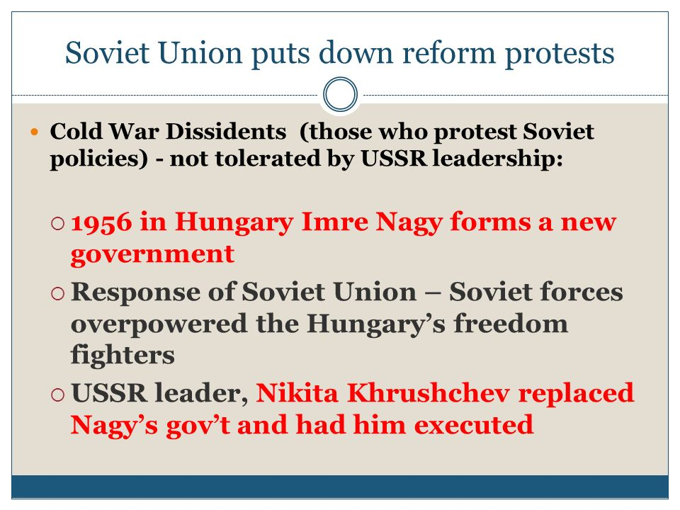 Soviet Union puts down reform protests