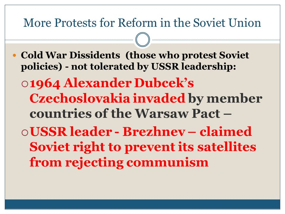 More Protests for Reform in the Soviet Union