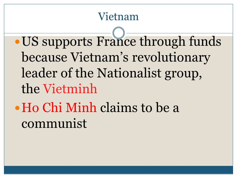 Ho Chi Minh claims to be a communist