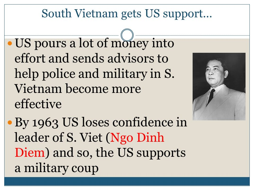 South Vietnam gets US support…