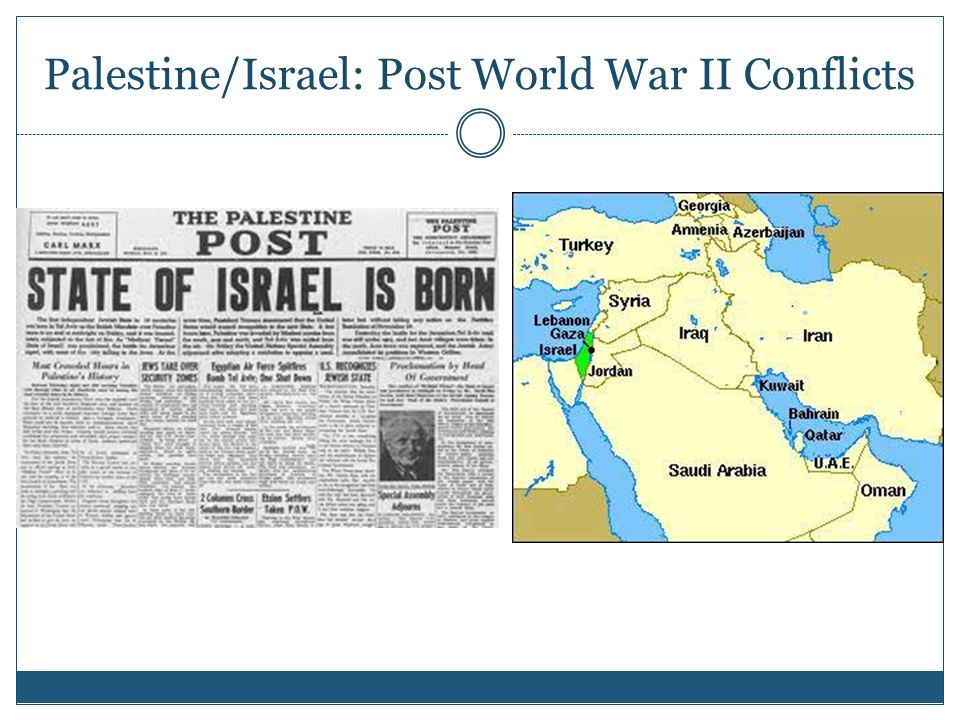 Palestine/Israel: Post World War II Conflicts