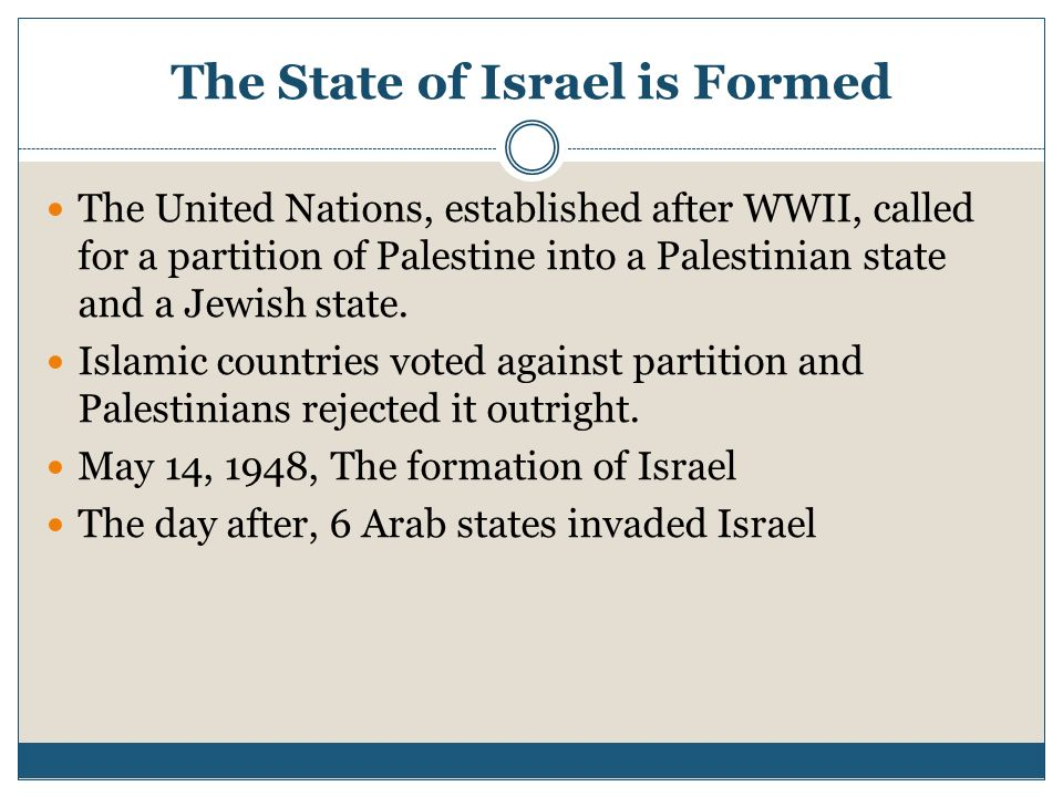 The State of Israel is Formed