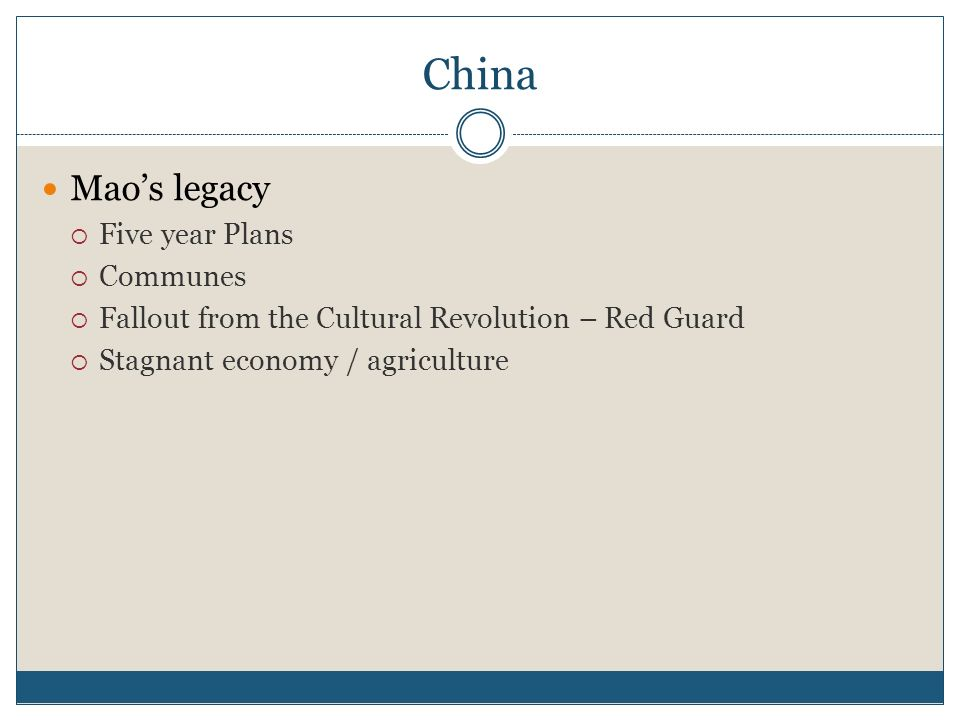 China Mao's legacy Five year Plans Communes