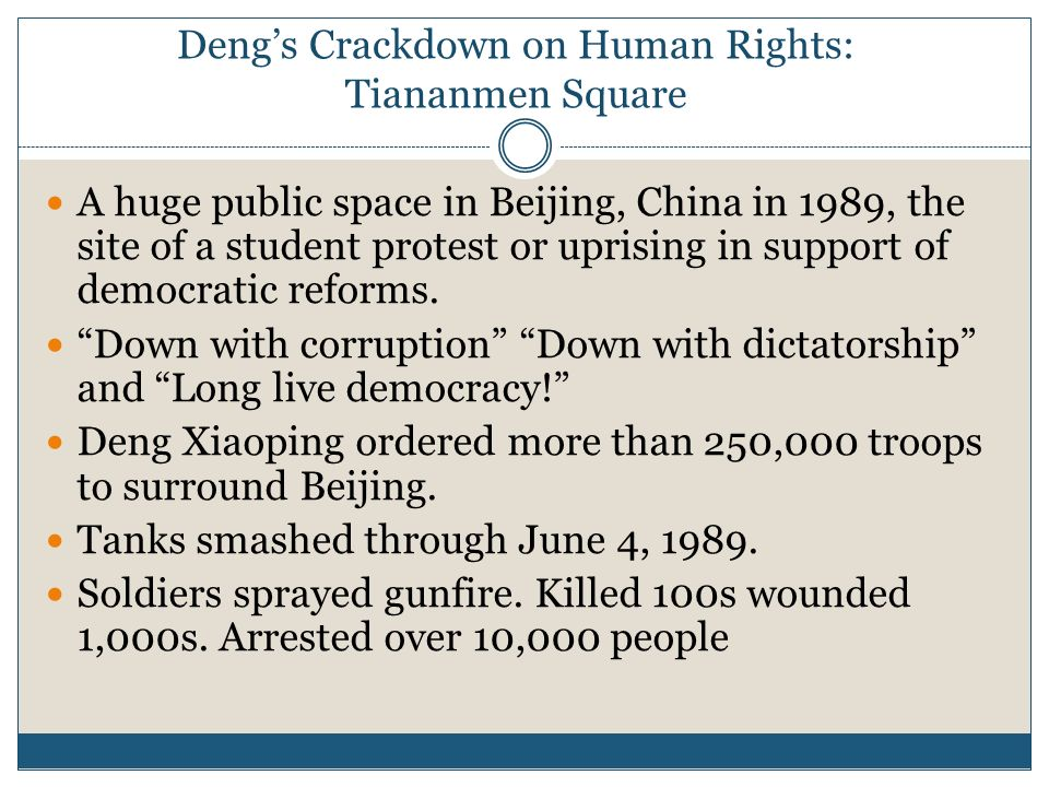 Deng's Crackdown on Human Rights: Tiananmen Square