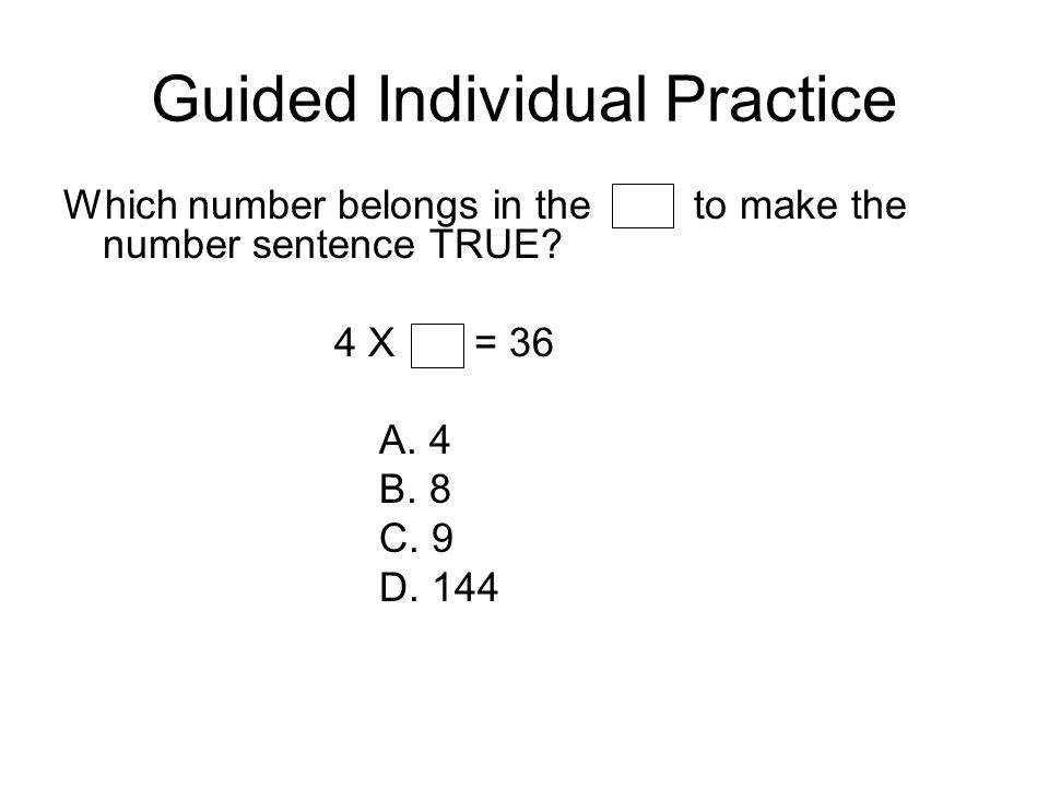Guided Individual Practice