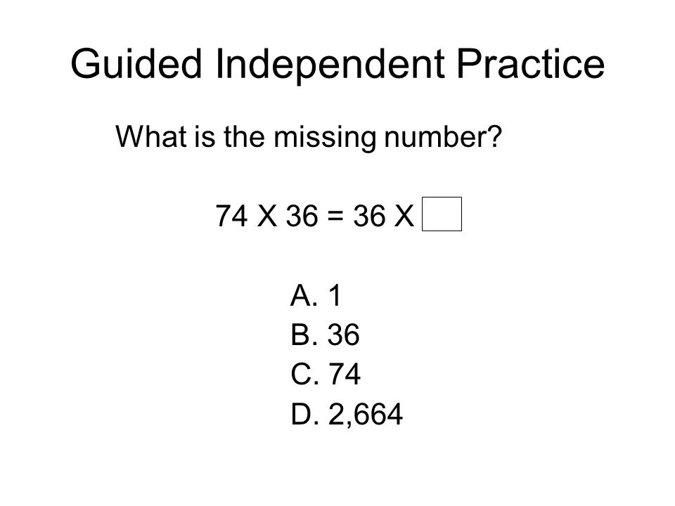 Guided Independent Practice