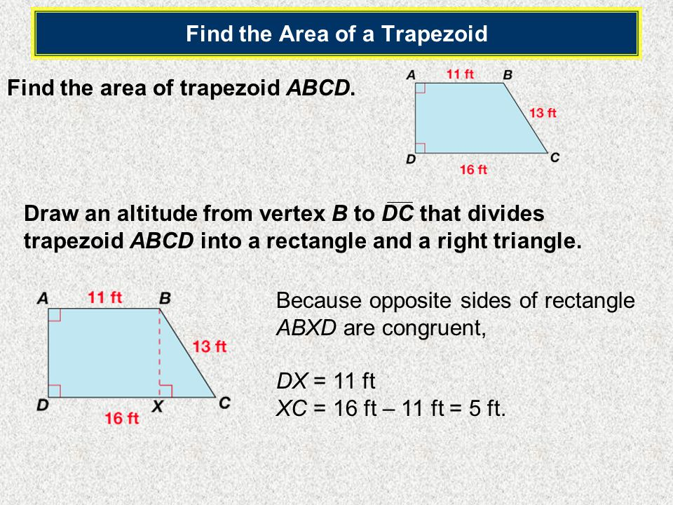 Find the Area of a Trapezoid