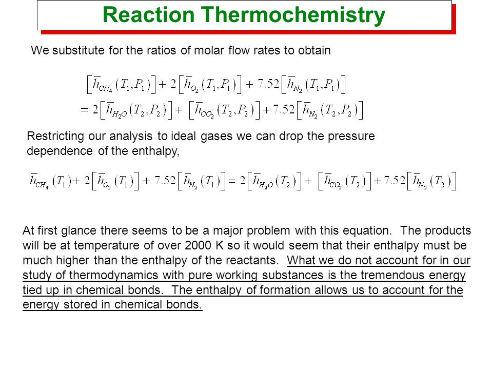 Reaction Thermochemistry