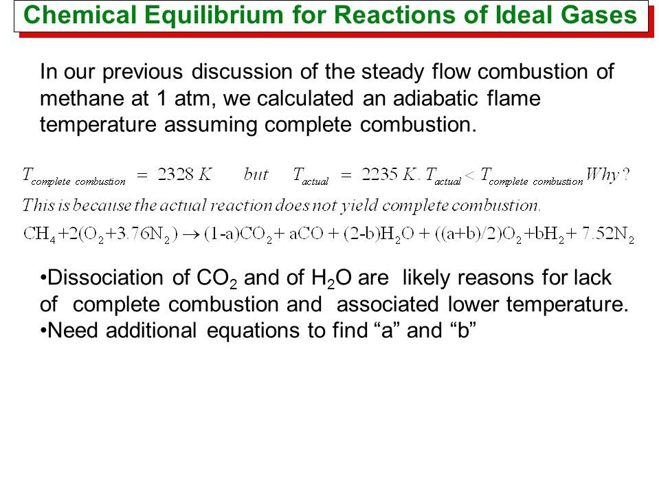 Chemical Equilibrium for Reactions of Ideal Gases