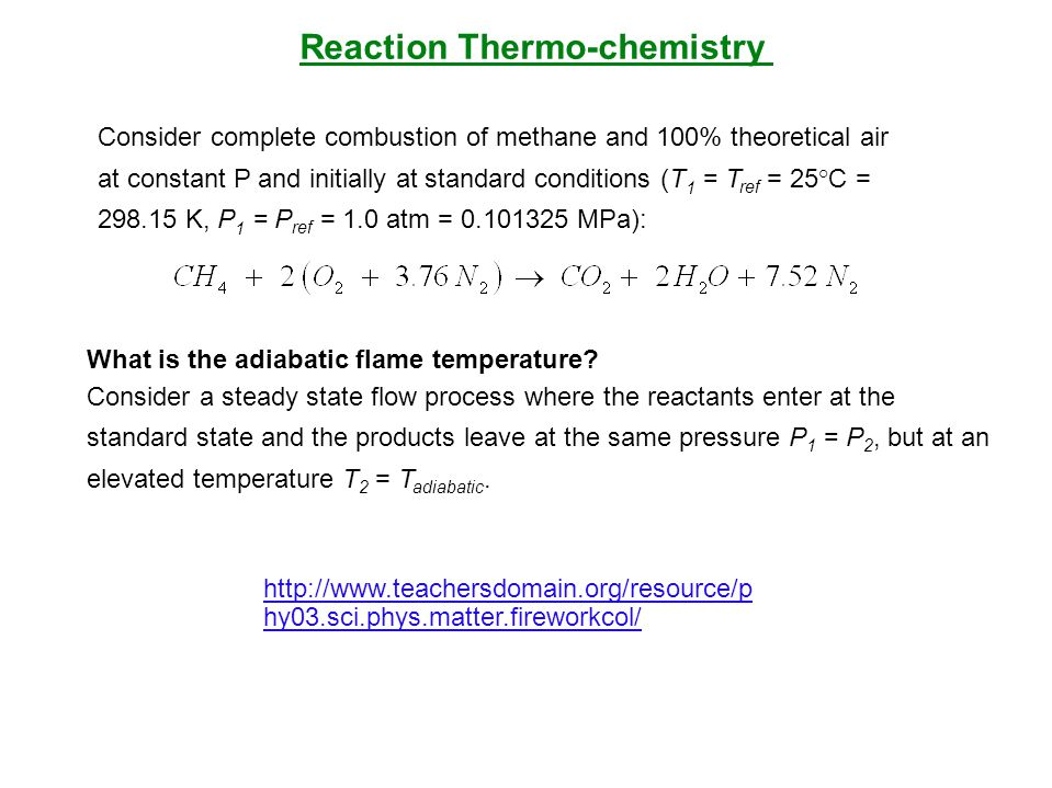 Reaction Thermo-chemistry