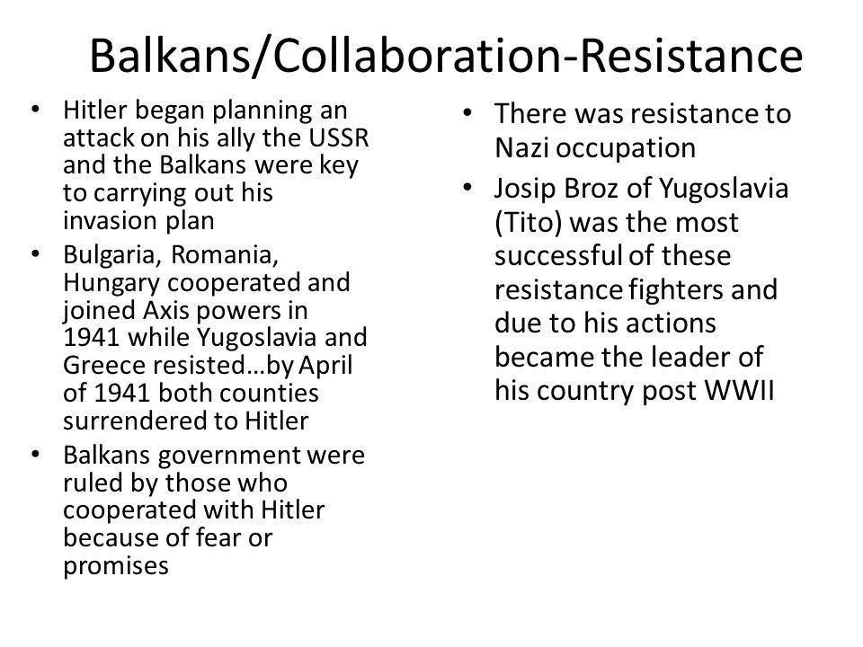 Balkans/Collaboration-Resistance