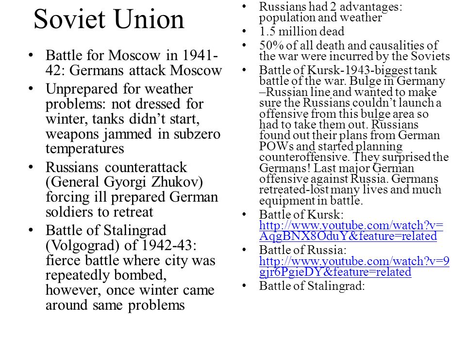 Soviet Union Battle for Moscow in 1941-42: Germans attack Moscow