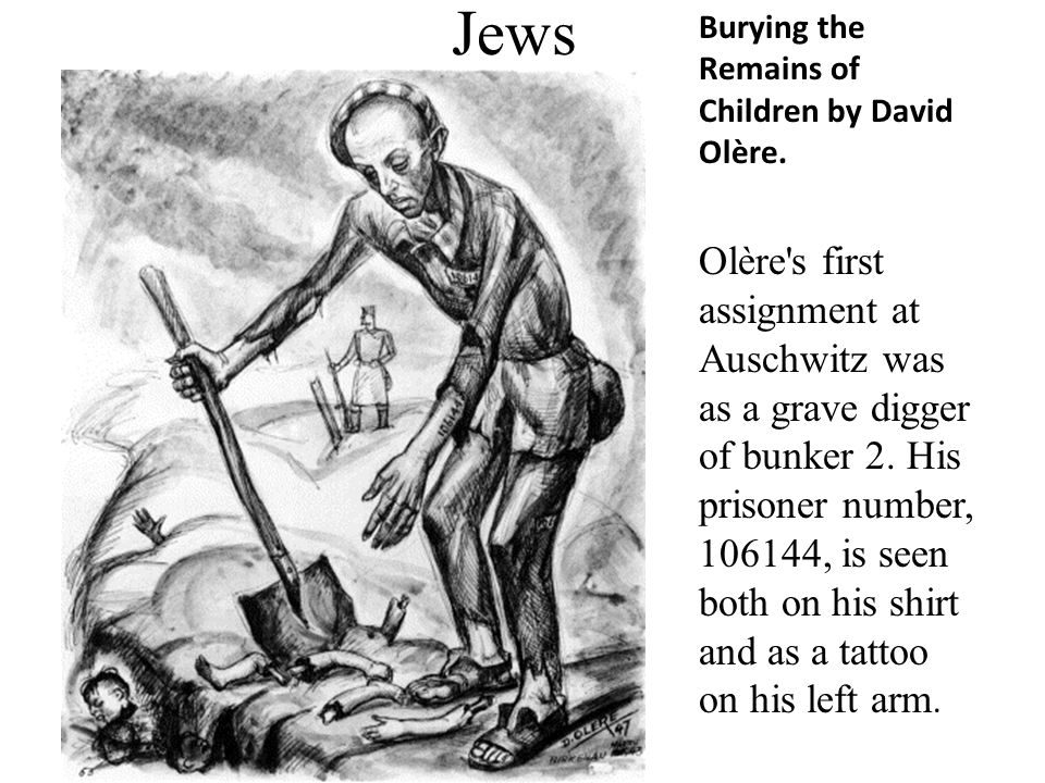 Jews Burying the Remains of Children by David Olère.